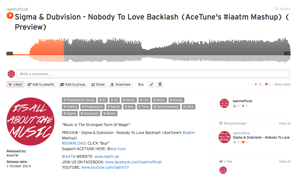 Sigma & Dubvision – Nobody To Love Backlash (AceTune's #iaatm Mashup)