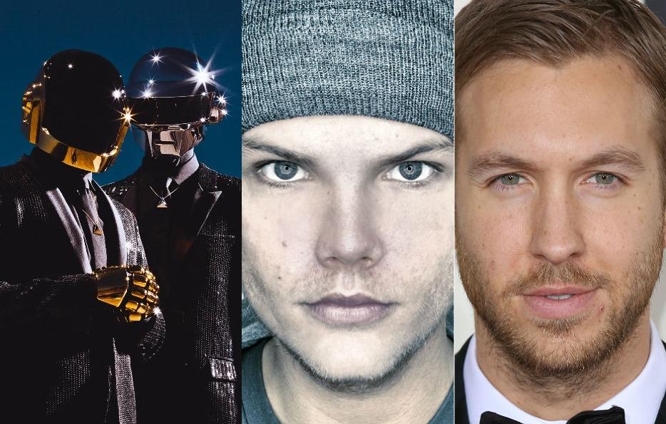 Daft Punk, Avicii, Calvin Harris