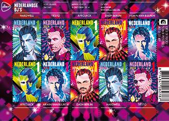 Star-DJs auf Briefmarke