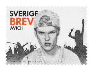 Avicii Briefmarke