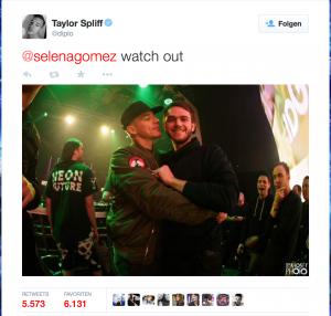Diplo tweetet an Selena
