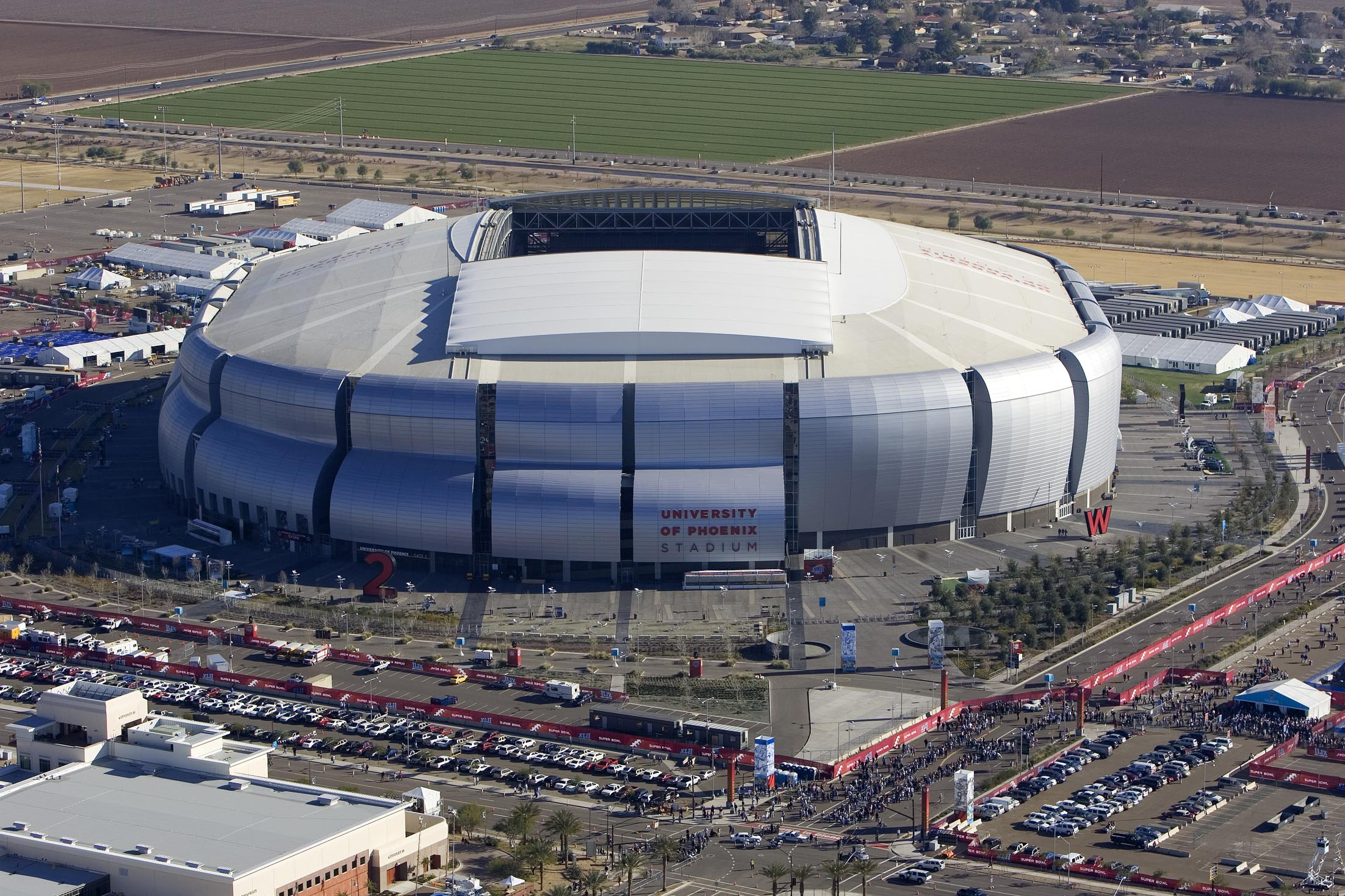"""University of Phoenix Stadium aerial"" von Gerald Nino/CBP"