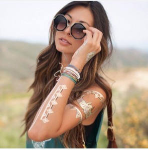 Coachella Tattoo Gold