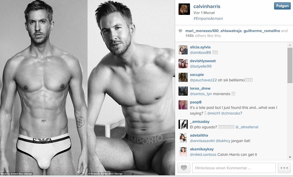Calvin Harris modelt für Armani Taylor Swift Calvin Harris