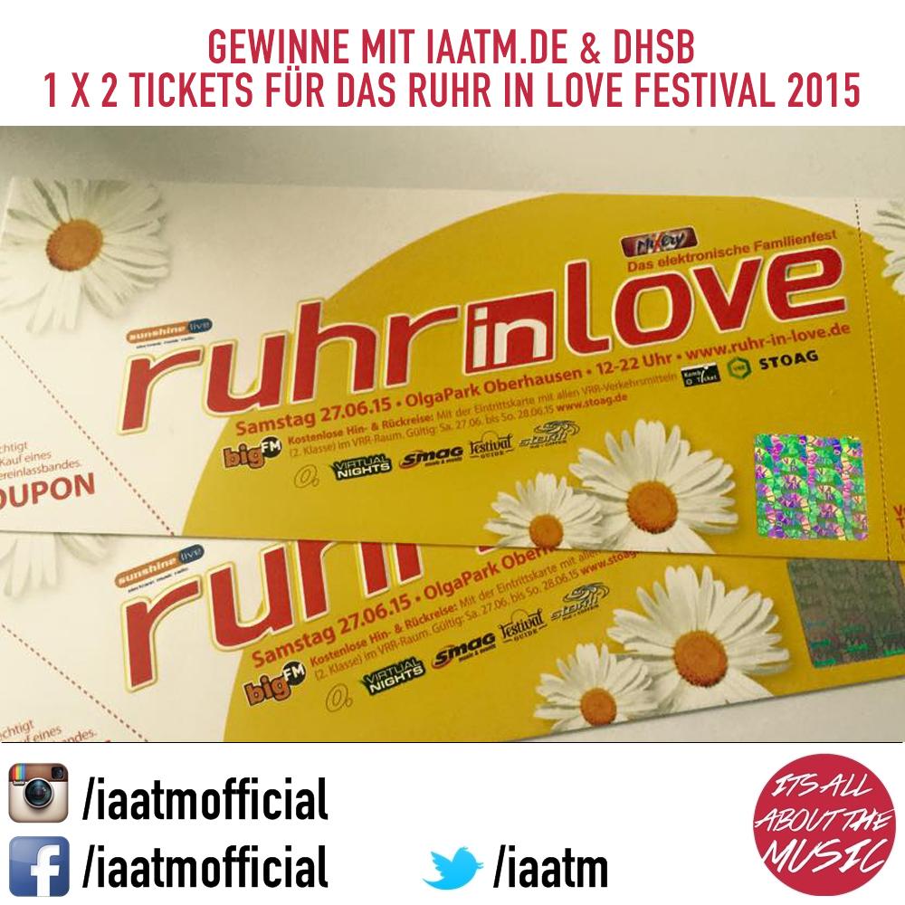 IAATM Gewinnspiel: 1×2 Ruhr in Love Festival Tickets