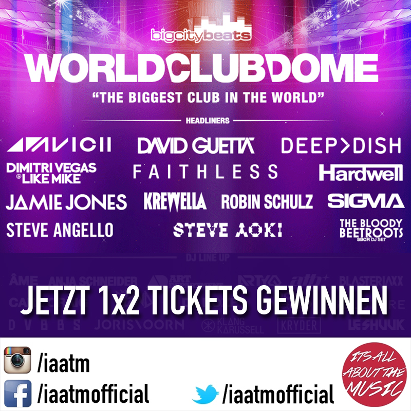 IAATM Gewinnspiel: 1×2 WORLD CLUB DOME TICKETS