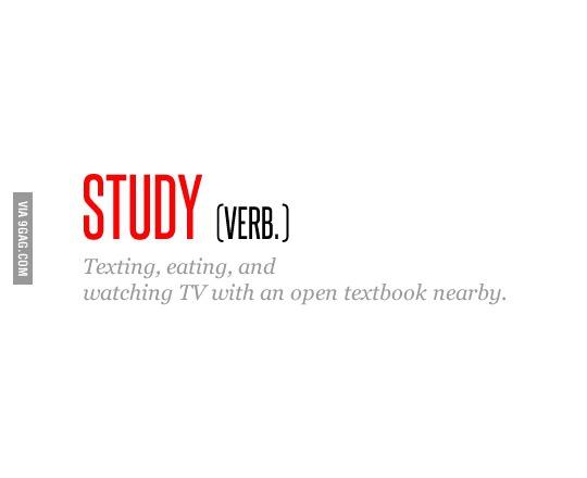 Alles außer lernen... Quelle: 9gag.com