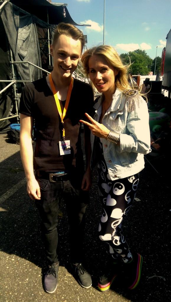 Unser IAATM Reporter Steffen mit Anie von 2Elements