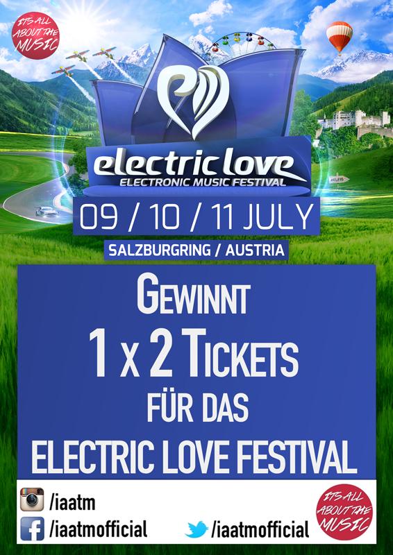 IAATM Gewinnspiel: 1 x 2 ELECTRIC LOVE FESTIVAL TICKETS