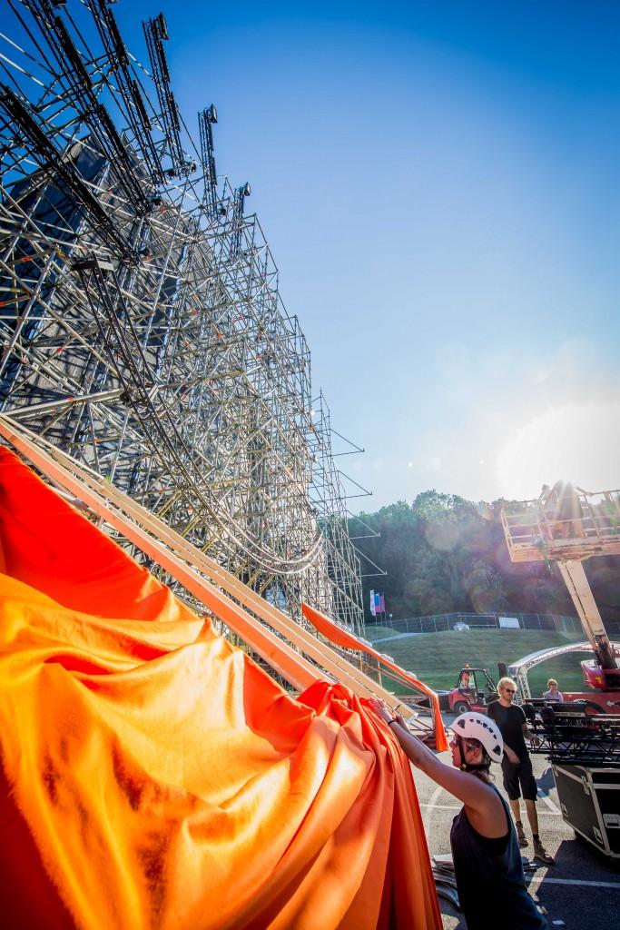 Der Aufbau für das ELF 2015 läuft auf Hochtouren. (c) Heimo Spindler