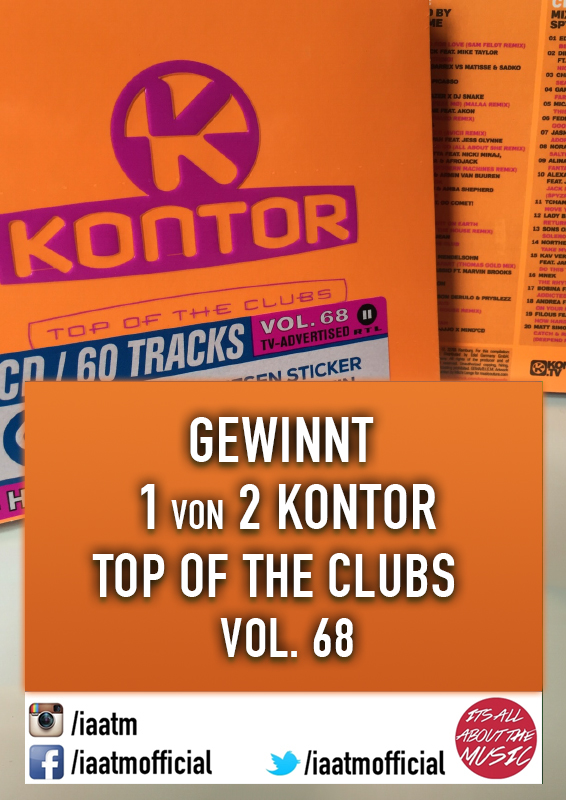 Kontor Top of the Clubs Vol. 68 Gewinnspiel + Review