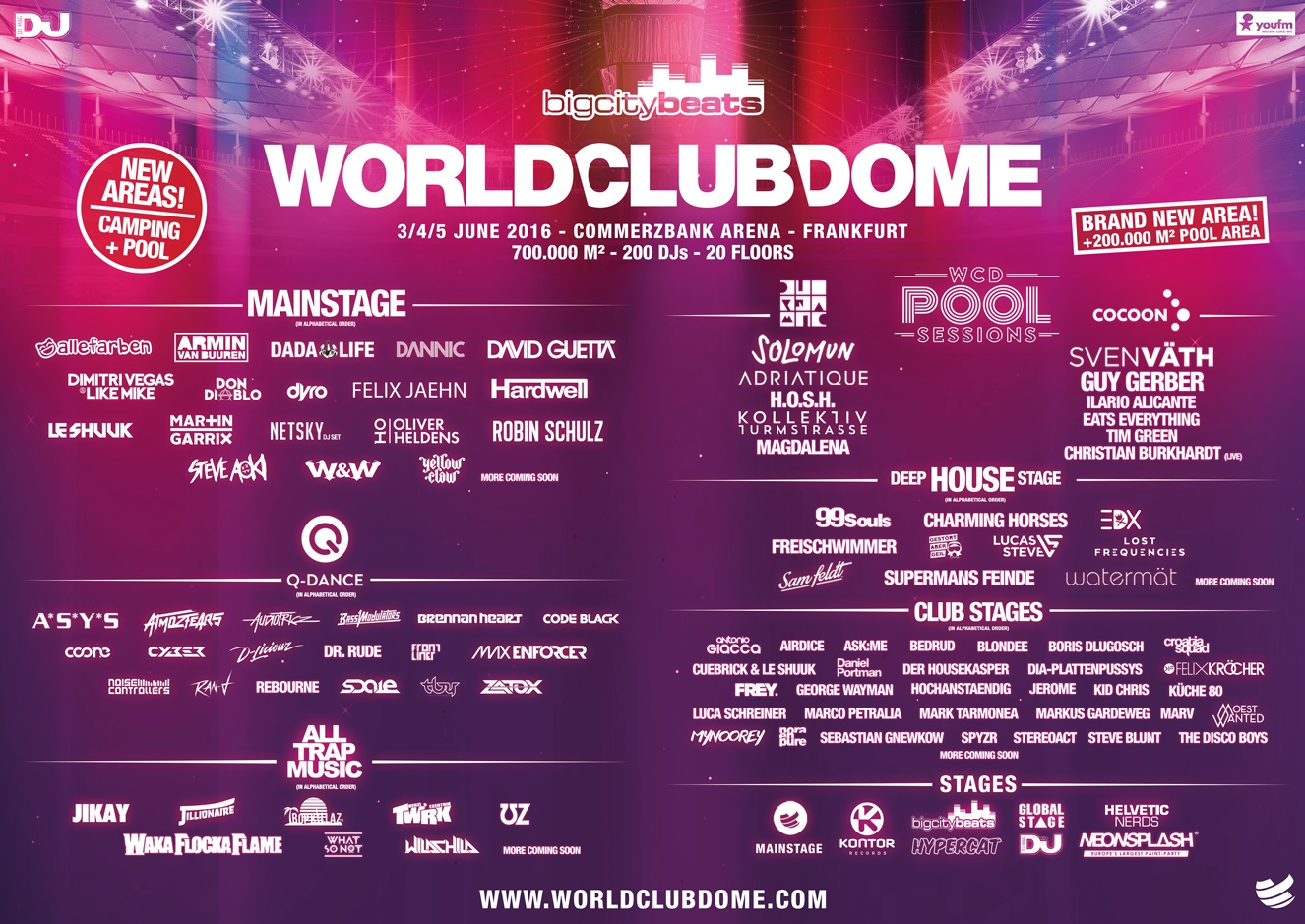 WORLD CLUB DOME Line Up 2016