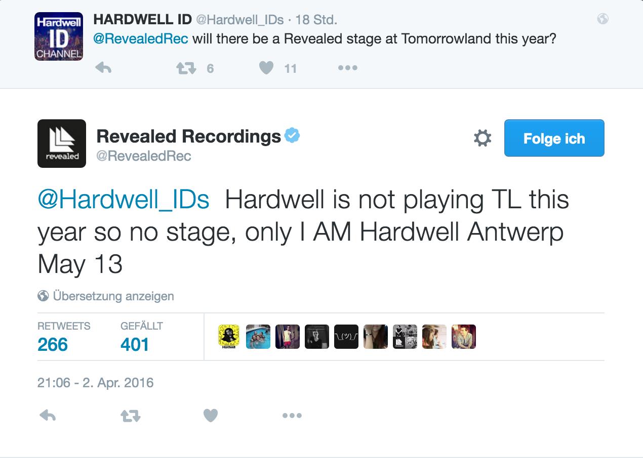 Hardwell Tomorrowland 2016