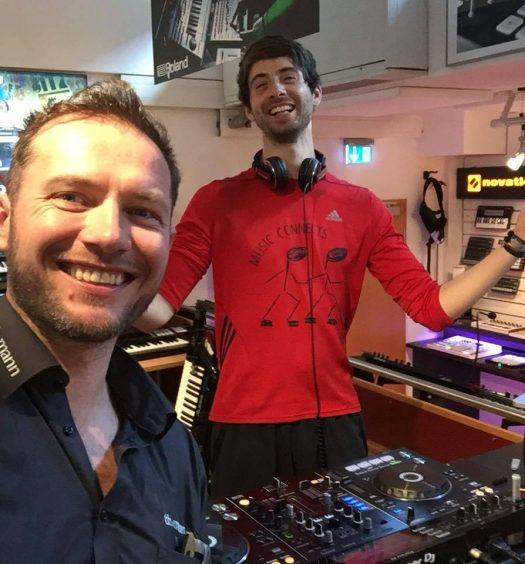 Bei Thomann mit Produzent und DJ Valdemossa