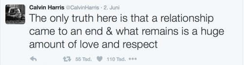 Calvin äußert sich zum Beziehungsaus!