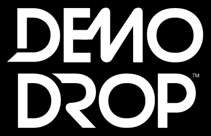 Demodrop logo black