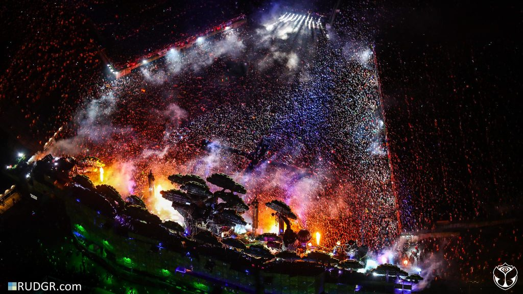 Tomorrowland von oben