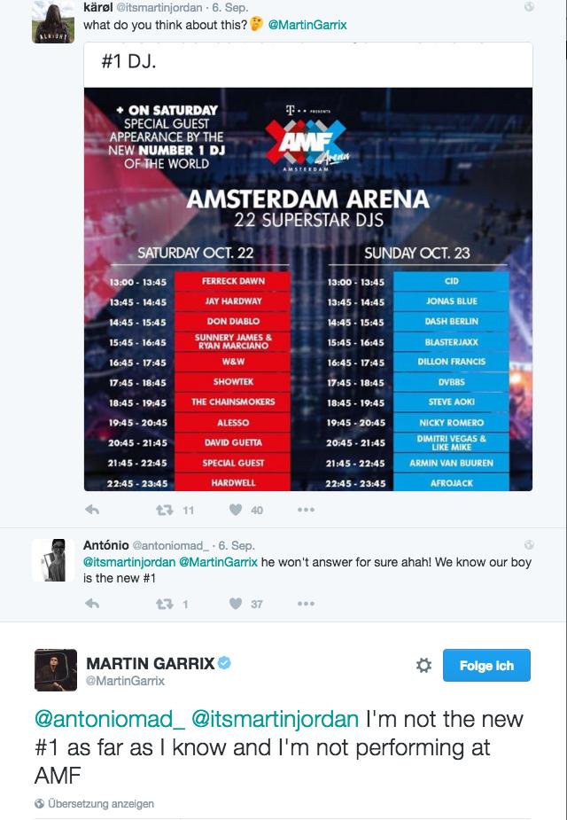 Martin Garrix No.1 DJ DJ MAG AMF TWITTER