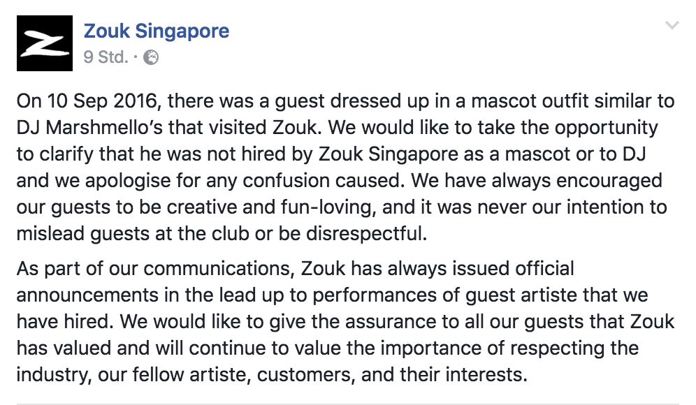 marshmello zouk singapore
