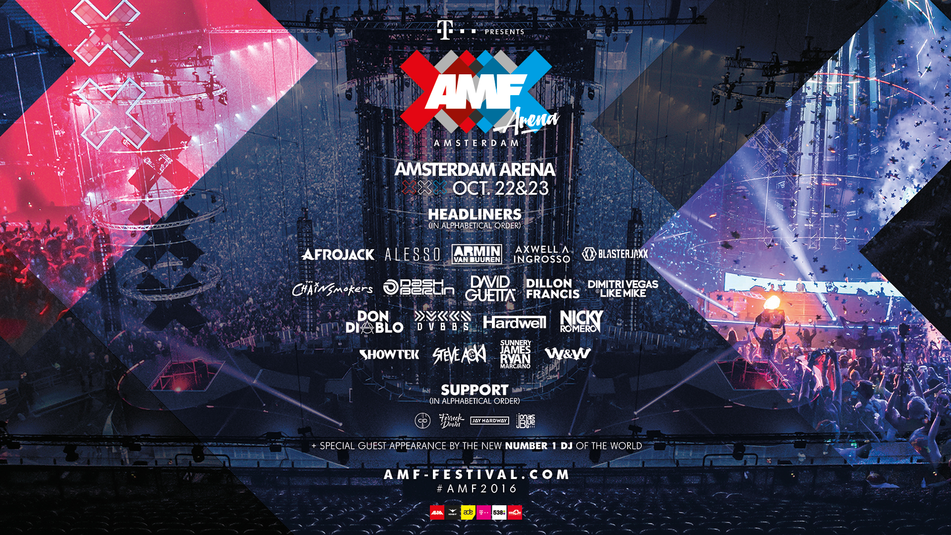 Amsterdam music festival AMF ADE festival garrix line up party flyer