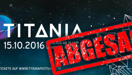 Schock für Fans: Titania Festival 2016 in Köln wurde abgesagt