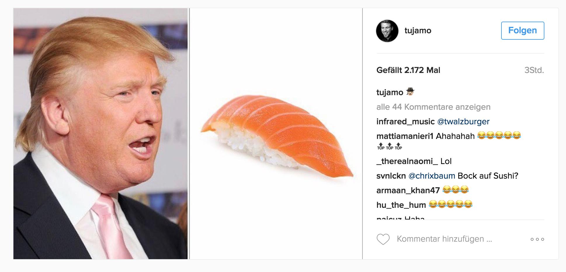 Tujamo Trump electrion 2016