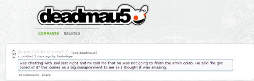 Deadmau5 / Armin Collab 2