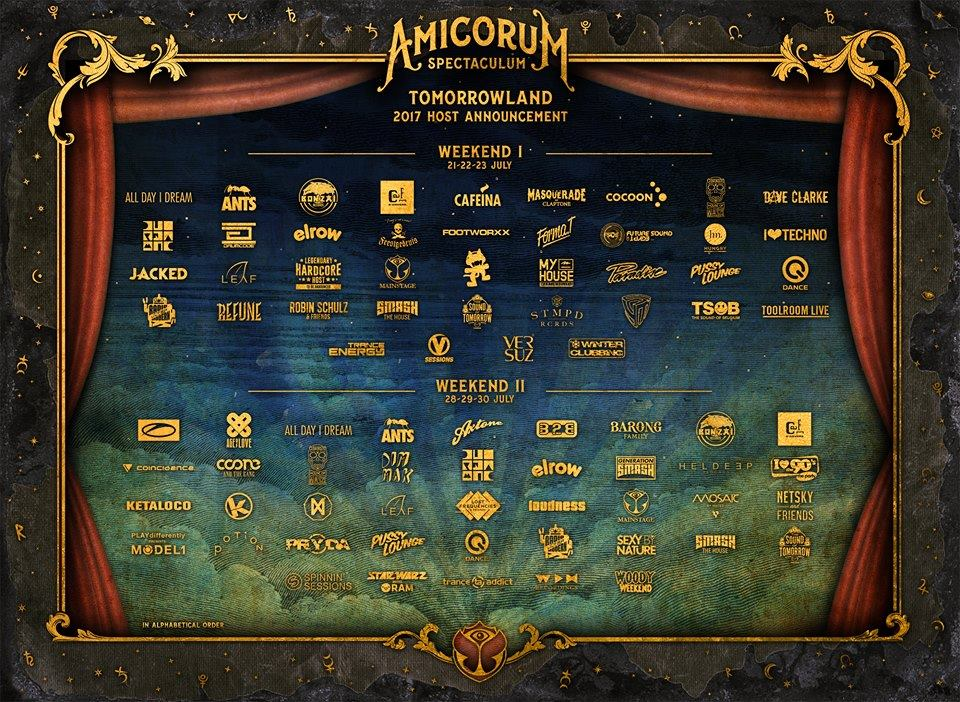 Tomorrowland 2017 Stages & Hosts
