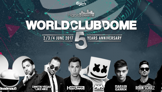 World Club Dome 2017 mit Afrojack, Martin Garrix, Zedd und Deadmau5!
