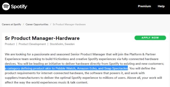 Spotify Hardware