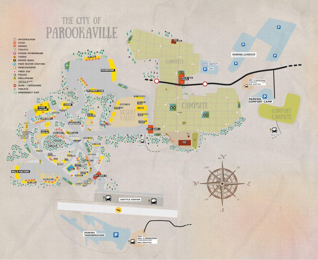Parookaville Map Karte