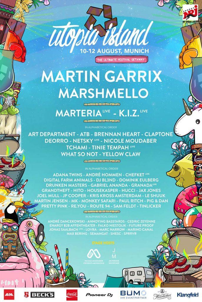 Lineup, Garrix, Tempah, Marshmello, Marteria, KIZ, Fuckgenres, Genre, International, Moosburg, München, Festival, Party, Veranstalter